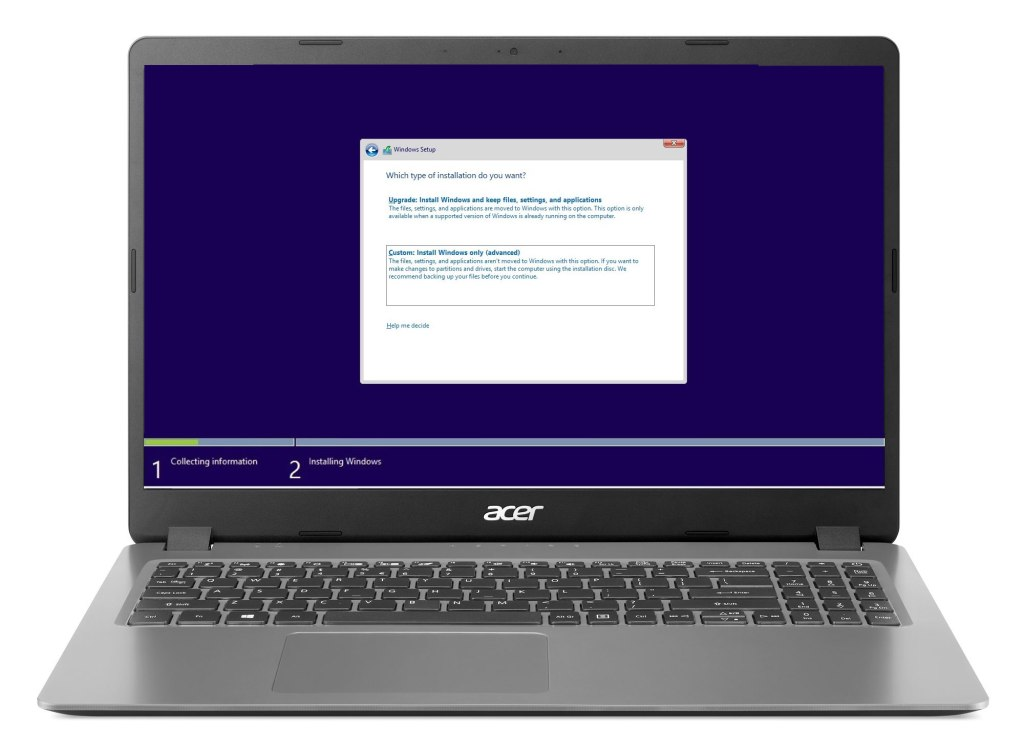 Acer Laptop Windows Install and Configuration Plano North Dallas Texas